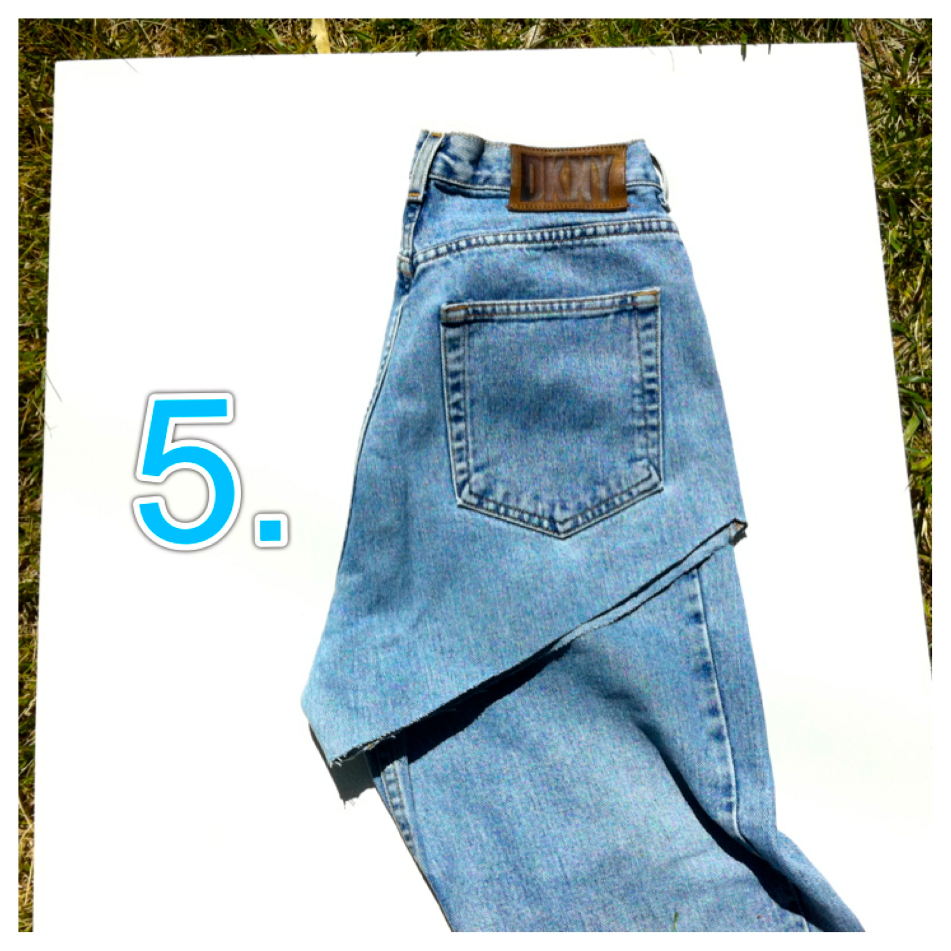 How to distressed high waisted jeans