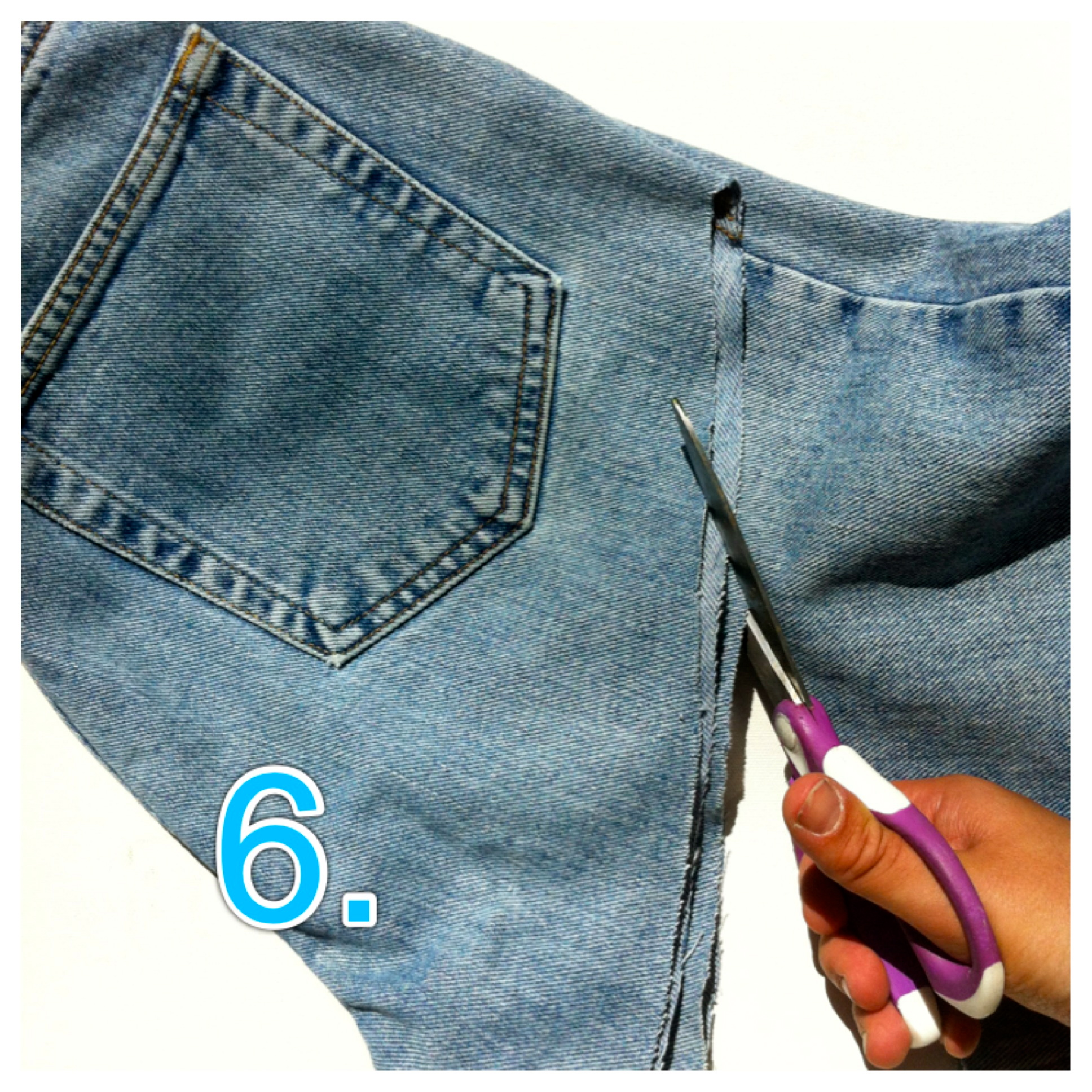 DIY High Waisted Denim Shorts, Step-by-Step Instructions (with ...