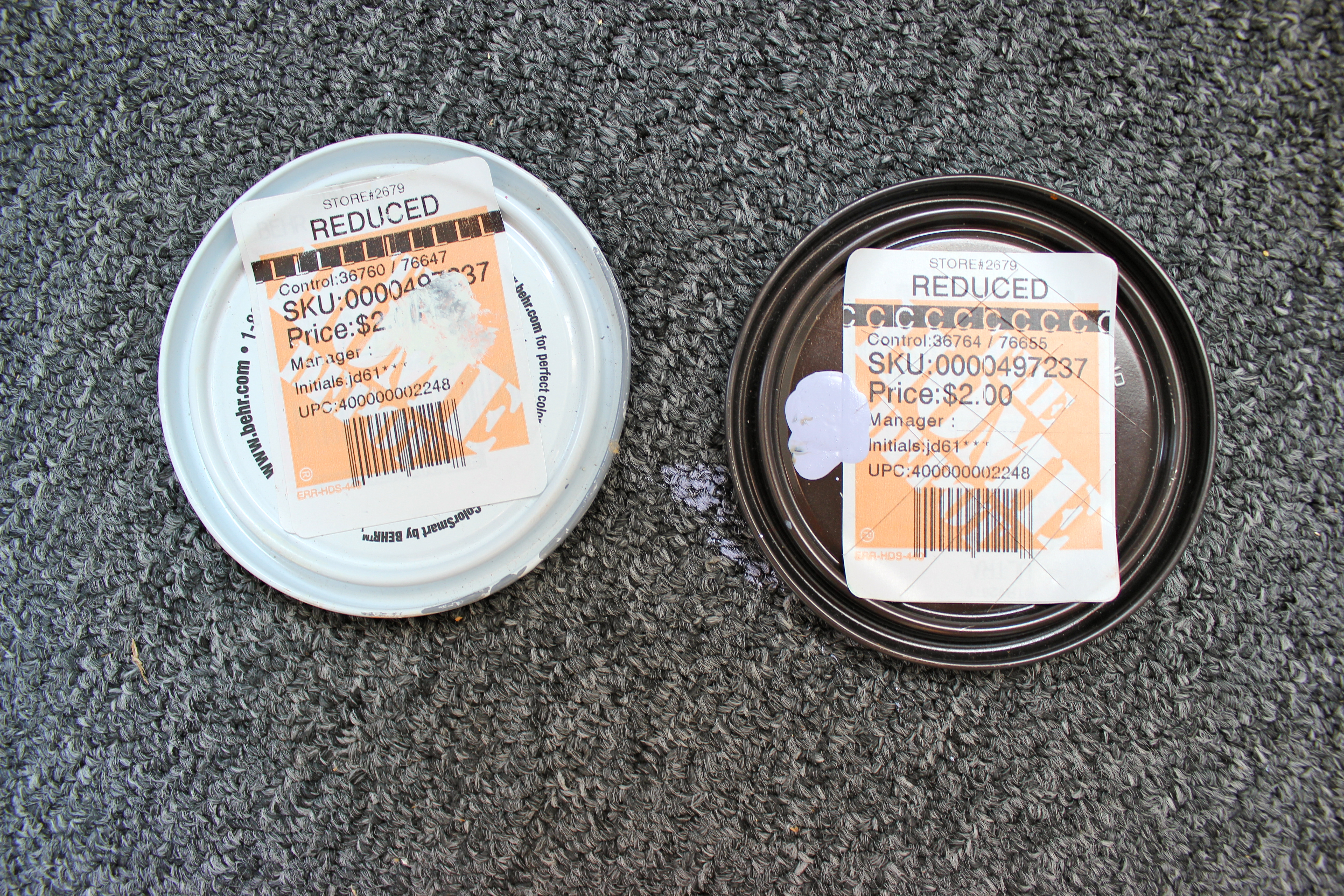 Home Depot Canada Empty Paint Cans