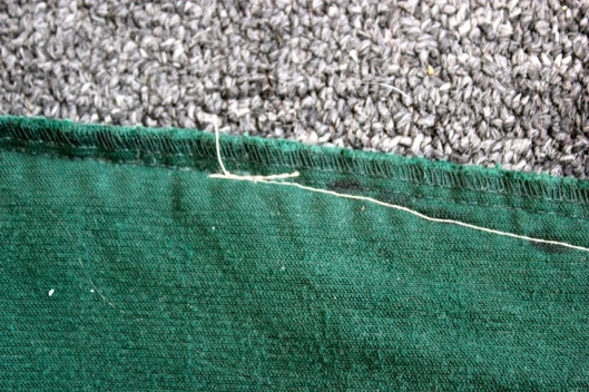 blending the new seam with the original seam