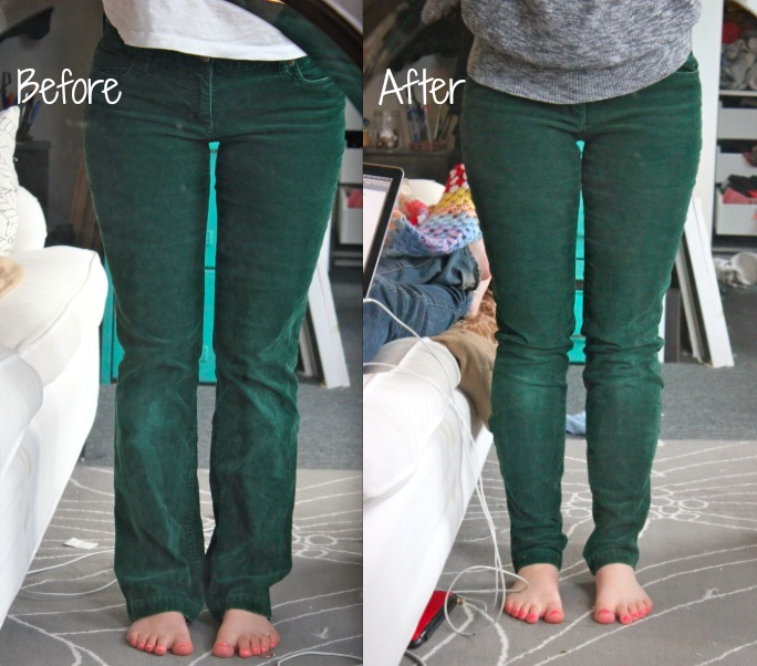 DIY Skinny Jeans From Flared Jeans, Step by Step Instructions ...