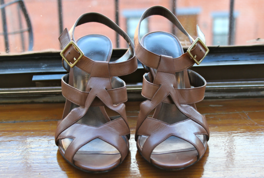 Ann Taylor Stacked Heel Sandals